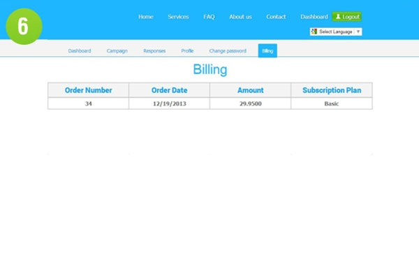 tweet4business – billing history | Using twitter for marketing